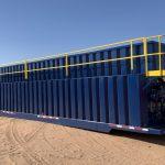 500 BBL (21,000 gallon) fully refurbished open top weir wall frac tank (separator tank)